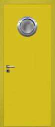 Białe drzwi łazienkowe z bulajem